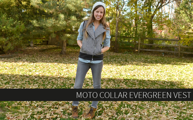 Evergreen Jacket Vest tutorial with free Moto Collar pattern