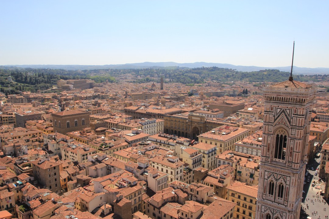 View from the Duomo- Florence, Italy