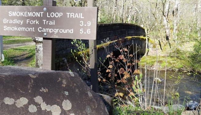 Smokemont Loop Trail Sign