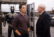 Michael Caine and Christian Bale The Dark Knight 220x150 Christian Bale Hands Back the Keys to the Batmobile after The Dark Knight Rises