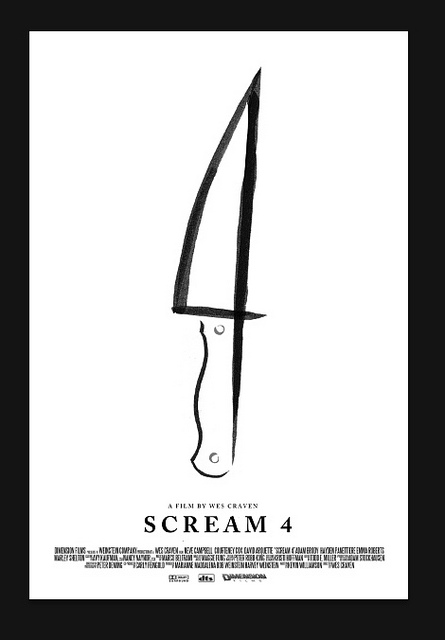 scream4olly022811 Scream 4 Minimalist Olly Moss Poster