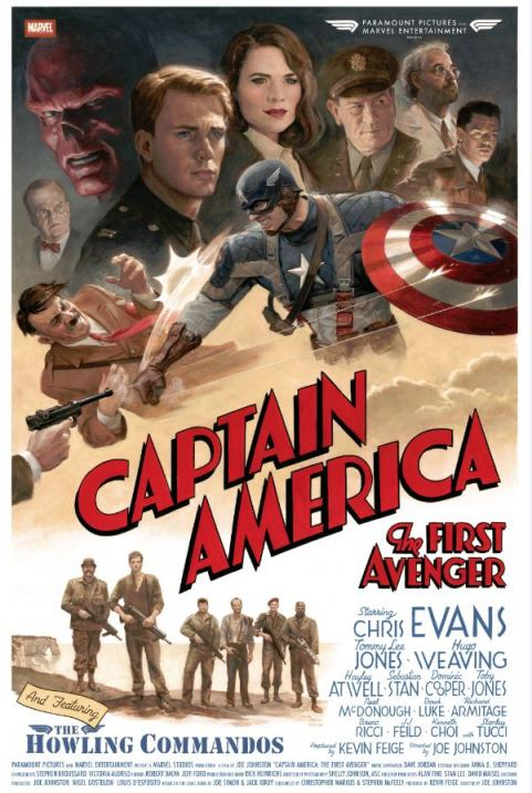 Captain America Vintage Poster New Vintage Poster Released for Captain America: The First Avenger