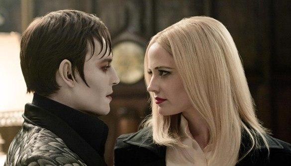 Eva Green and Johnny Depp in Dark Shadows 585x333 Eva Green and Johnny Depp Get Intimate in New Still from Dark Shadows