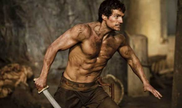 Henry Cavill buffs up for Immortals