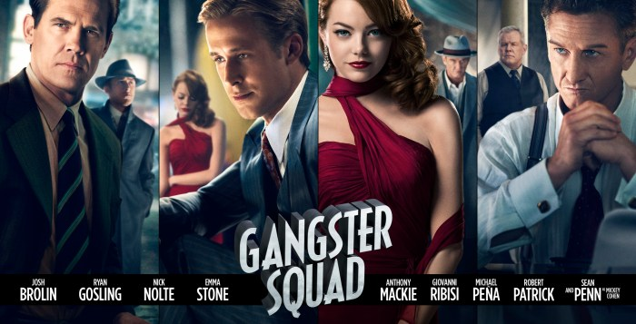 Gangster Squad character art