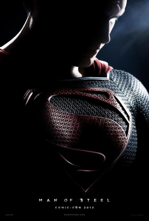 Man of Steel hi res poster Man of Steel gets an Awesome Teaser Poster – Superman Cast in Shadows