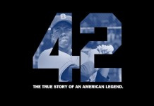 42 Teaser Poster e1348402599649 218x150 New Trailer for Jackie Robinson Biopic, 42, with Harrison Ford & Chadwick Boseman