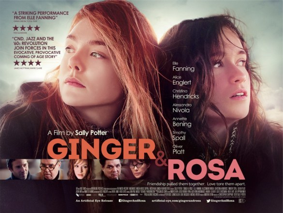 Ginger Rosa UK Poster 585x440 Beautiful First Poster for Ginger & Rosa with Elle Fanning, Alice Englert & Christina Hendricks