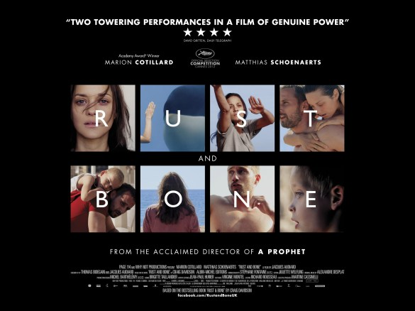 Rust and Bone UK Poster 585x438 New UK Poster for Rust and Bone
