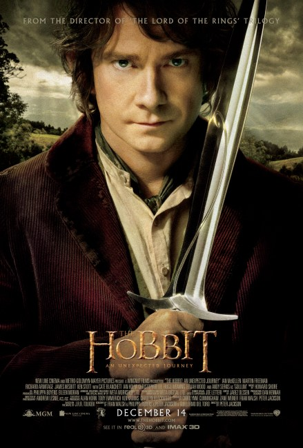 The Hobbit An Unexpected Journey Poster 439x650 Bilbo Baggins Graces the New Poster for The Hobbit: An Unexpected Journey
