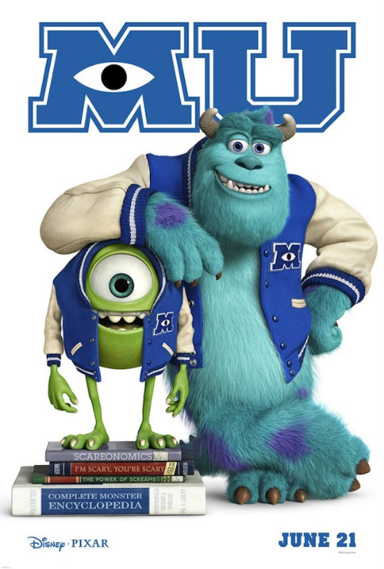 Monsters University Brand New Monsters University Teaser Poster