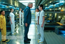 Harrison Ford and Asa Butterfield in Enders Game 220x150 First Look Image: Harrison Ford & Asa Butterfield in Ender's Game