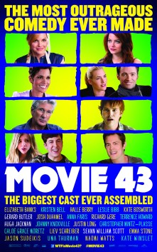 2 New UK Posters for Movie 43 with Emma Stone, Hugh Jackman, Johnny Knoxville & More