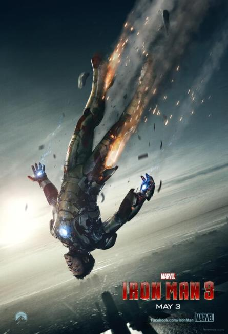 Iron Man 3 Poster 445x650 Tony Stark Falls from the Sky in Awesome New Poster for Iron Man 3