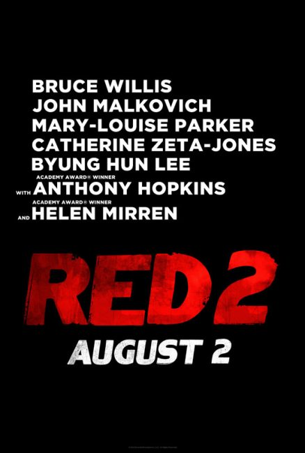 RED 2 Teaser Poster 438x650 First Teaser Trailer & Poster for RED 2