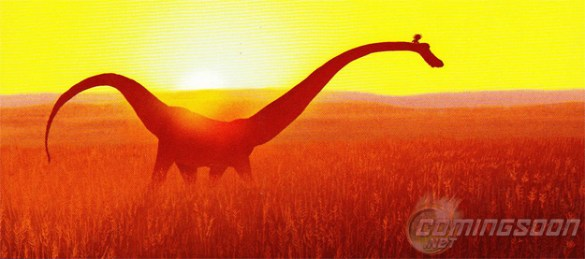 The Good Dinosaur Pixar Concept Art 585x259 First Concept Art from Pixar's The Good Dinosaur, Pete Docter's Untitled Movie & More