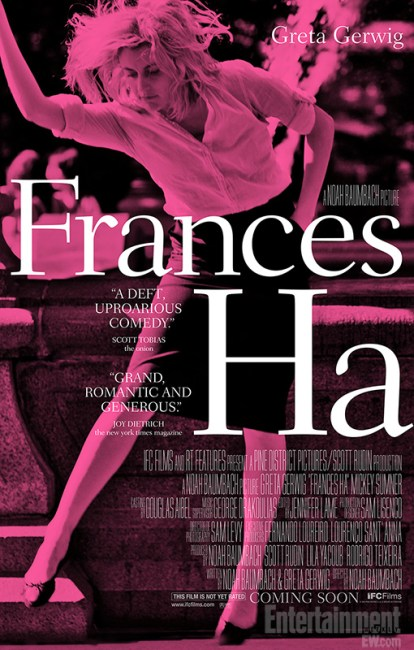 Frances Ha Poster 414x650 First Clip and Poster for Noah Baumbach's Frances Ha with Greta Gerwig