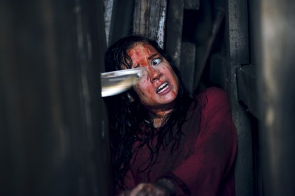 Jane Levy in Evil Dead 585x389 Bloody New Image of Jane Levy in Evil Dead