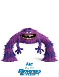 New Character Posters – Meet the Monsters of Monsters University