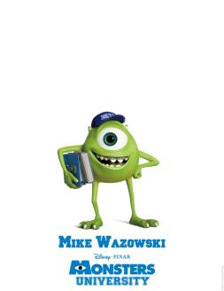 Monsters University Character Poster Mike Wazowski 502x650 New Trailer for Monsters University