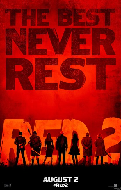 RED 2 Teaser Poster 416x650 Brilliant New Teaser Poster for RED 2 – 'The Best Never Rest'