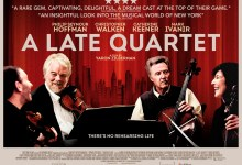 A Late Quartet Poster UK Quad 220x150 New UK Poster and Trailer for A Late Quartet with Christopher Walken & Philip Seymour Hoffman