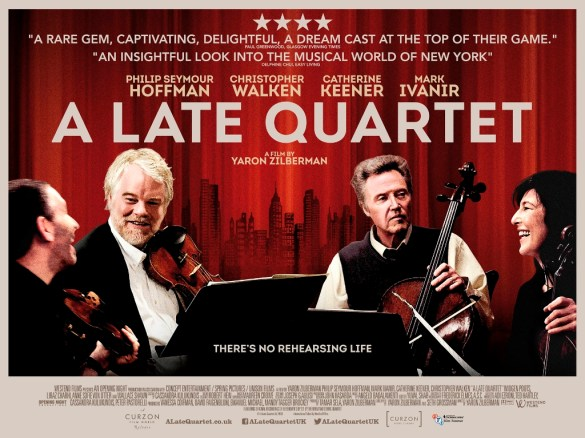 A Late Quartet Poster UK Quad 585x438 New UK Poster and Trailer for A Late Quartet with Christopher Walken & Philip Seymour Hoffman