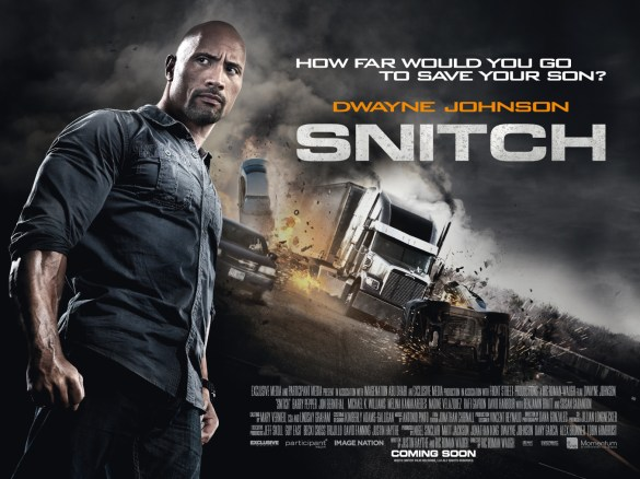 Snitch UK Poster 585x438 New Footage in UK Trailer + Poster for Snitch starring Dwayne Johnson