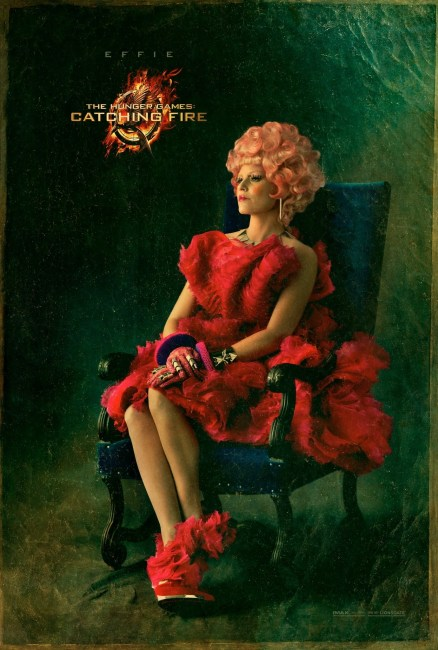 The Hunger Games Catching Fire Couture Character Poster Elizabeth Banks 438x650 First Capitol Couture Character Poster for Elizabeth Banks in The Hunger Games: Catching Fire
