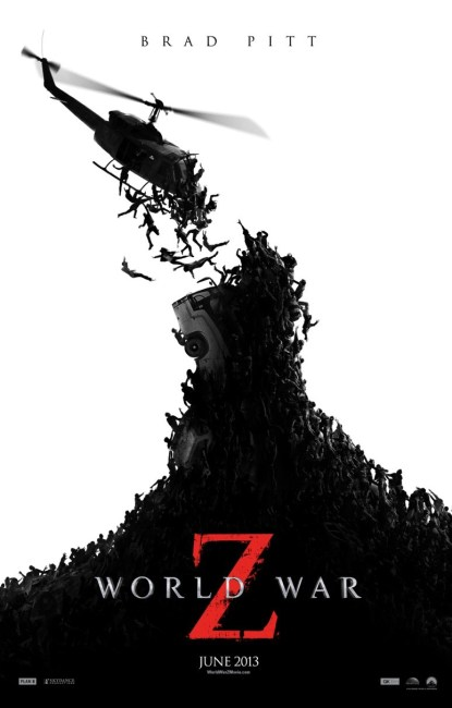 World War Z Poster 415x650 New Trailer and Poster for World War Z – 'The End of Humanity'