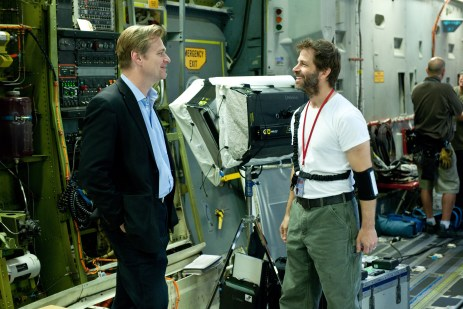 Christopher-Nolan-and-Zack-Snyder-on-set-of-Man-of-Steel