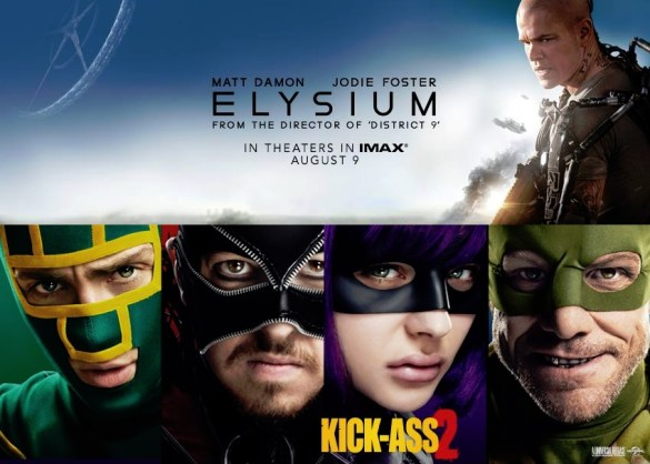 Elysium Kick Ass 2 Top 10 Must See Movies of August 2013 585x418 Top 10 Must See Movies of August 2013