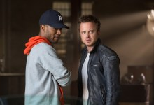 Scott Mescudi and Aaron Paul in Need for Speed 220x150 First Look Images: Aaron Paul, Dominic Cooper & Dakota Johnson in Need for Speed