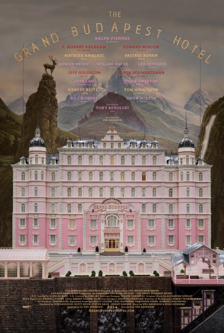 The Grand Budapest Hotel Poster 438x650 First Poster for Wes Anderson's The Grand Budapest Hotel