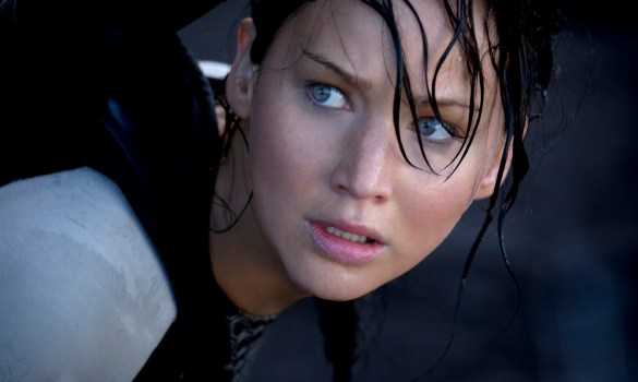 Jennifer Lawrence in The Hunger Games Catching Fire 585x350 Jennifer Lawrence is All Action in New TV Spots for The Hunger Games: Catching Fire