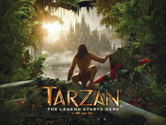 Tarzan Poster 585x438 Trailer   Tarzan Returns to the Big Screen in 3D Motion Capture