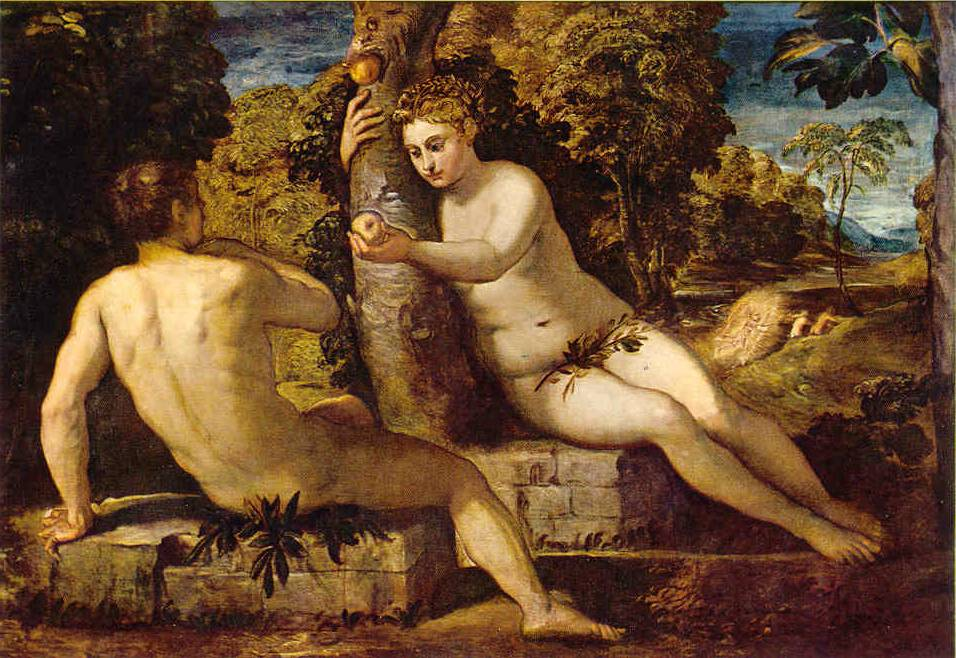 Tintoretto Adam And Eve Bible Adam And Eve