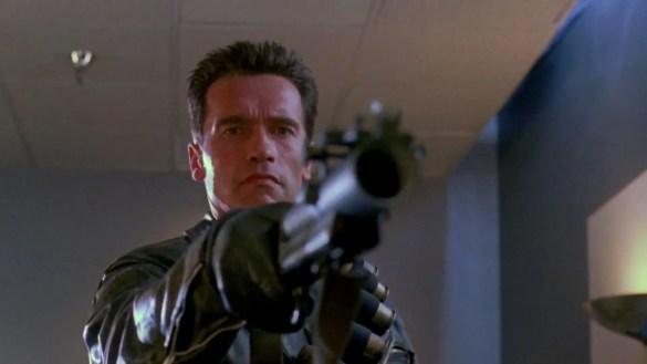Terminator 585x329 First Look at Arnold Schwarzenegger and Emilia Clarke on Terminator: Genesis Set