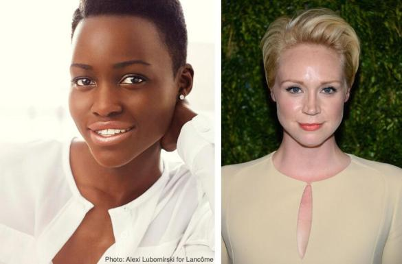 Lupita Nyongo Gwendoline Christie 585x385 More Star Wars Episode VII Cast Announced   Lupita Nyongo and Gwendoline Christie