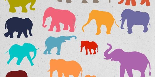 Free download ~ elephant photoshop brushes and photoshop custom shapes