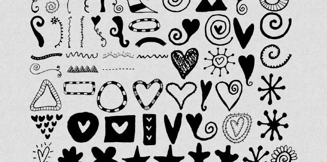 Free download ~ doodle photoshop brushes