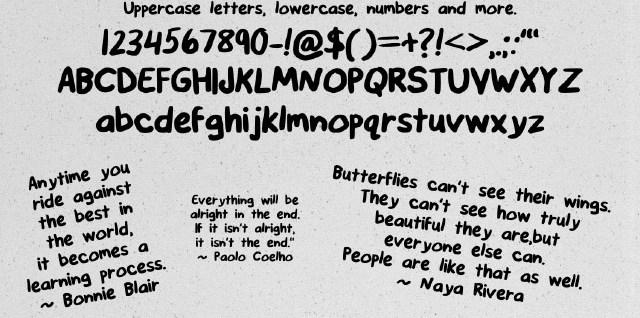 Free download ~ hand-made font, Buffaloose