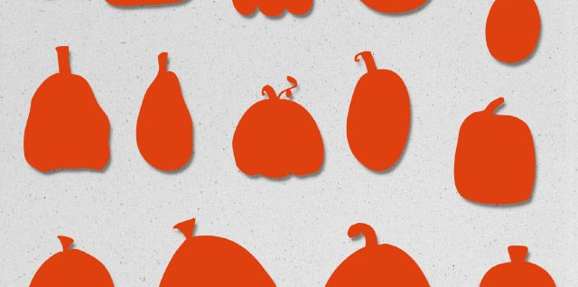 Free download ~ pumpkin photoshop custom shapes