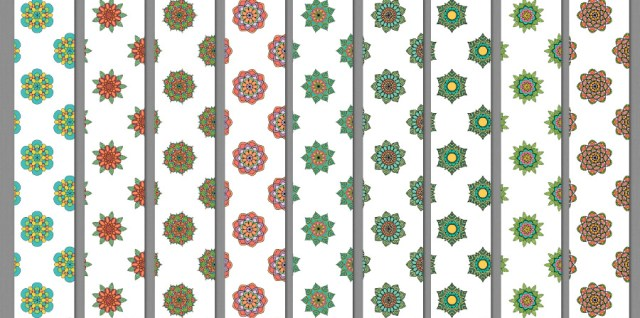 Free download ~ seamless tiling photoshop .pat file of mandala flowers ~ courtesy of www.hgdesigns.co