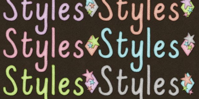 Free download ~ sparkle pastel photoshop layer styles ~ courtesy of www.hgdesigns.co