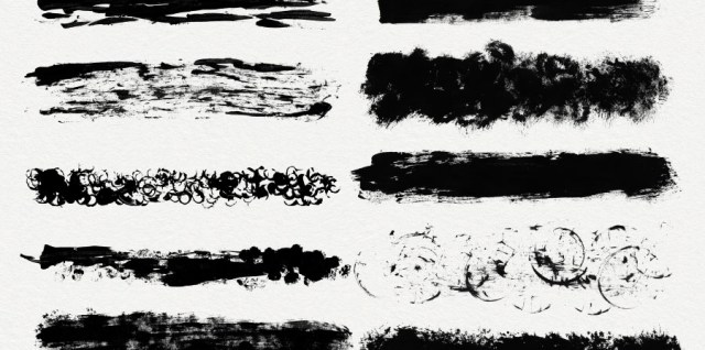 Free download ~ dirty brush strokes photoshop brushes and jpg image sheets ~ courtesy of hgdesigns.co