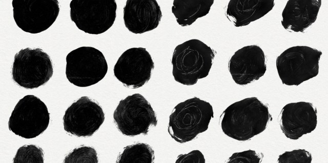 Free download ~ dirty paint circles photoshop brush set ~ courtesy of www.hgdesigns.co