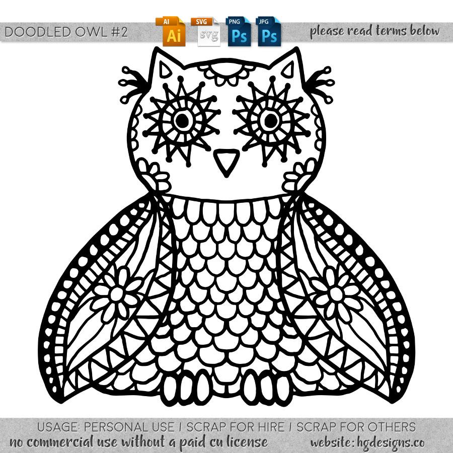 freebie: doodled owl #2
