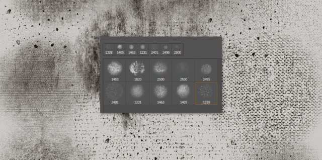 Free download ~ grunge photoshop brush set