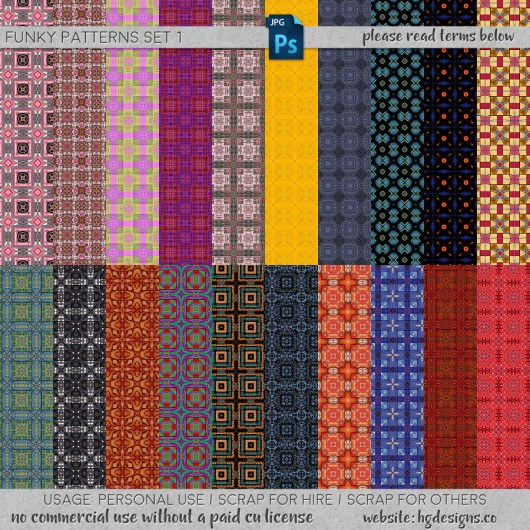 Free download ~ seamless tiling patterns in jpg format and photoshop .pat file